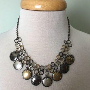 Jewelry - Silver/black/bronze necklace